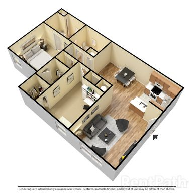 Two Bedroom 1010 Sq.Ft.