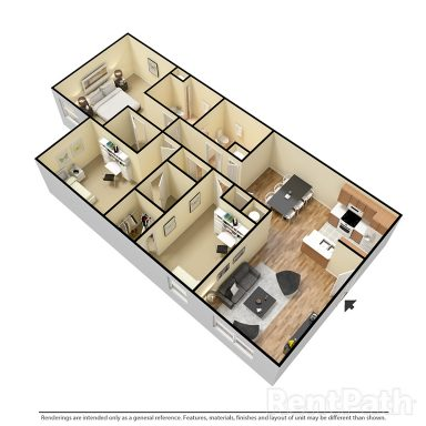Three Bedroom 1262 Sq.Ft.