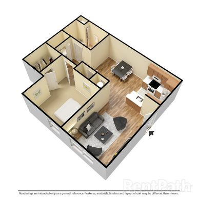 One Bedroom 770 Sq.Ft.
